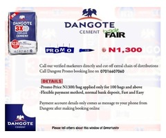 BUY DANGOTE CEMENT AT PROMO PRICE