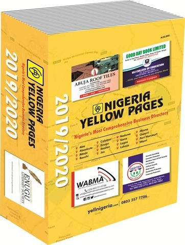 Nigeria Yellow Pages 2019/2020 Edition - 1/1