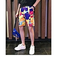 Colourful beach shorts